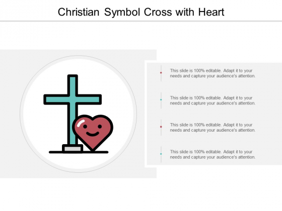 Christian Symbol Cross With Heart Ppt PowerPoint Presentation Summary Graphics Pictures