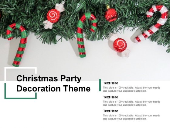Christmas Party Decoration Theme Ppt Powerpoint Presentation Summary Structure