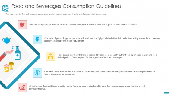 Cinemas_Food_And_Beverages_Consumption_Guidelines_Ppt_Icon_Vector_PDF_Slide_1