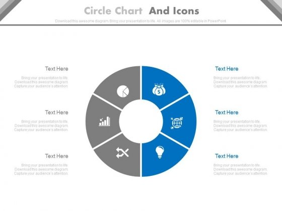 Circle Chart With Business Icons PowerPoint Slides