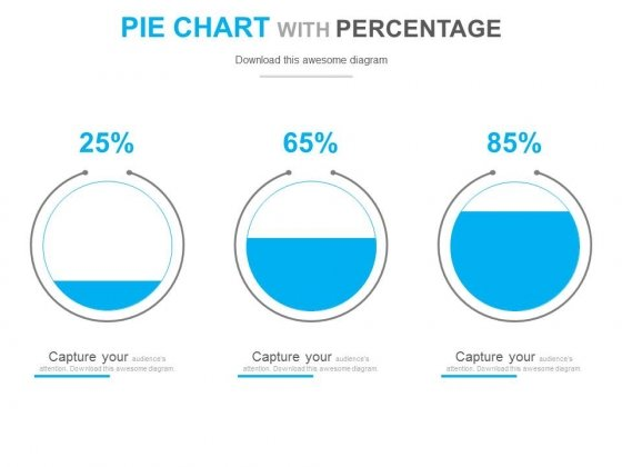 Circle Chart With Increasing Percentage Values PowerPoint Slides
