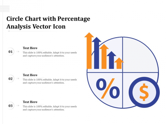 Circle Chart With Percentage Analysis Vector Icon Ppt PowerPoint Presentation Summary Graphic Images PDF