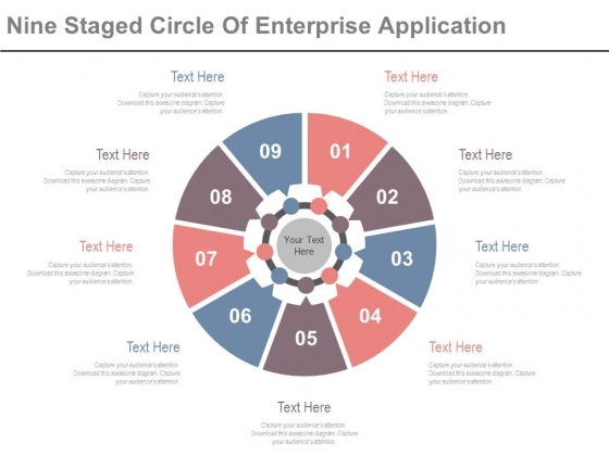 Circle Diagram For Business Marketing Mix Powerpoint Slides