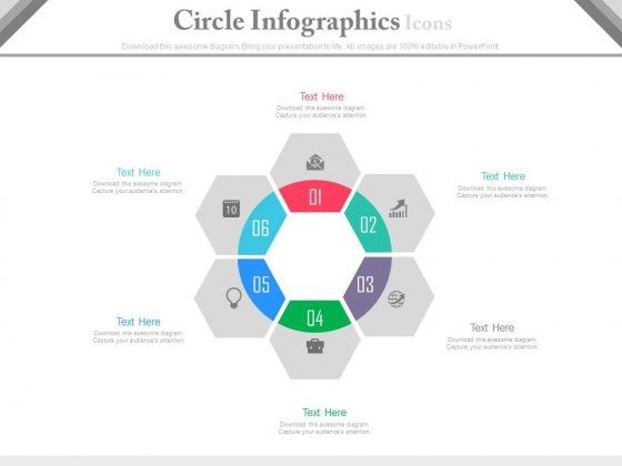 Circle Infographics Developing A Marketing Strategy Powerpoint Template
