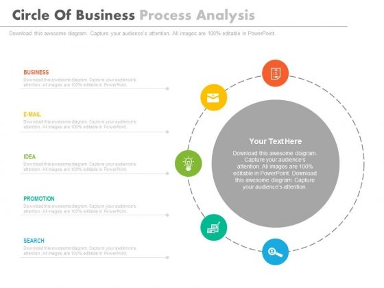 Circle Infographics For Market Research Analysis Powerpoint Template