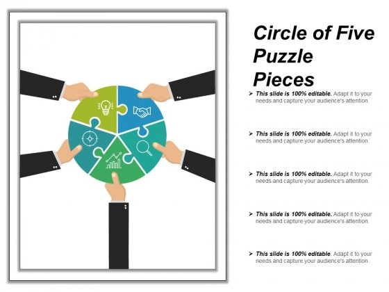 Circle Of Five Puzzle Pieces Ppt PowerPoint Presentation Gallery Backgrounds