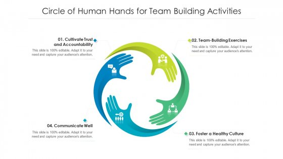 Circle Of Human Hands For Team Building Activities Ppt Ideas Clipart Images PDF