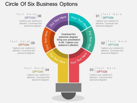 Circle Of Six Business Options Powerpoint Templates