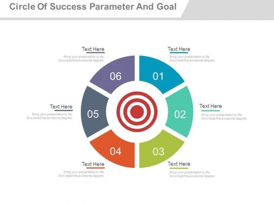 Circle Of Six Steps For Goal Planning Powerpoint Slides