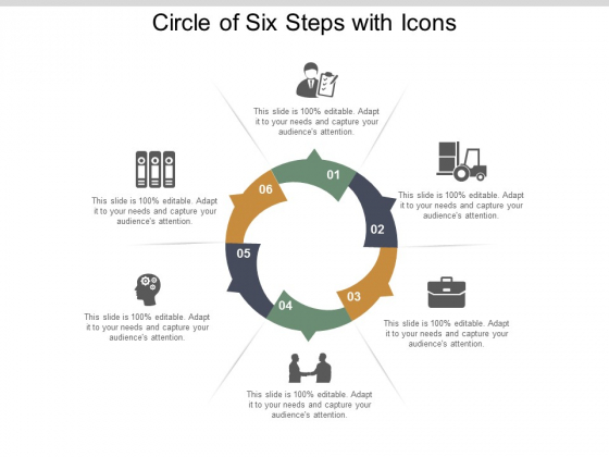 Circle Of Six Steps With Icons Ppt Powerpoint Presentation Visual Aids Infographic Template