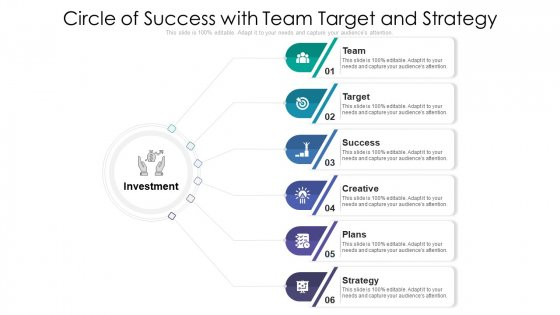 Circle Of Success With Team Target And Strategy Ppt PowerPoint Presentation Professional Rules PDF