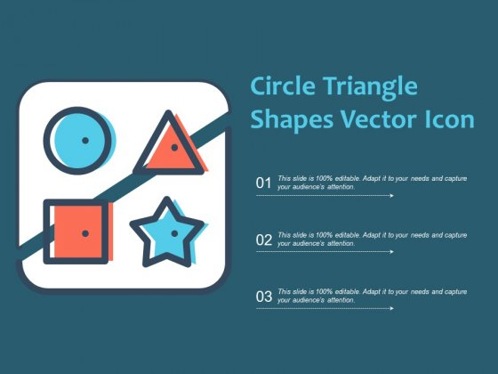 Circle Triangle Shapes Vector Icon Ppt PowerPoint Presentation Icon Background
