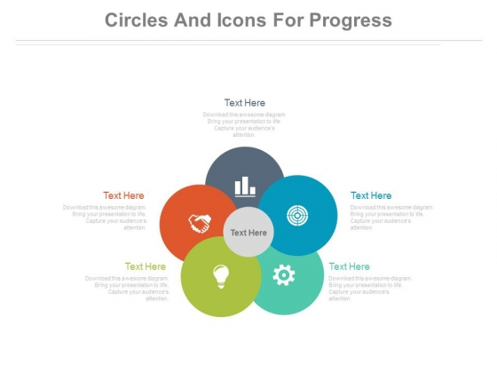 Circles And Icons For Marketing Planning Process Powerpoint Template