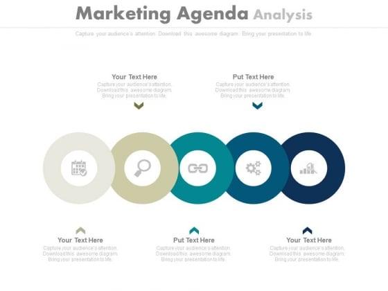 Circles For Marketing Agenda Analysis Powerpoint Slides