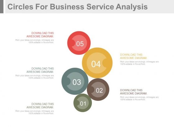 Circles Infographics For Business Services Powerpoint Template