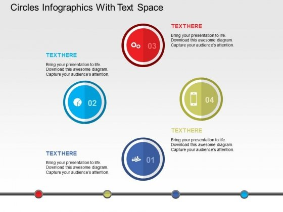 Circles Infographics With Text Space Powerpoint Templates