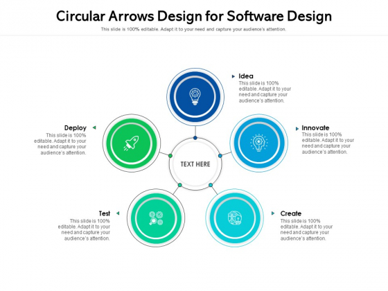 Circular Arrows Design For Software Design Ppt PowerPoint Presentation File Picture PDF