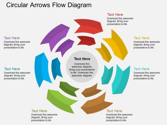 Circular Arrows Flow Diagram Powerpoint Template