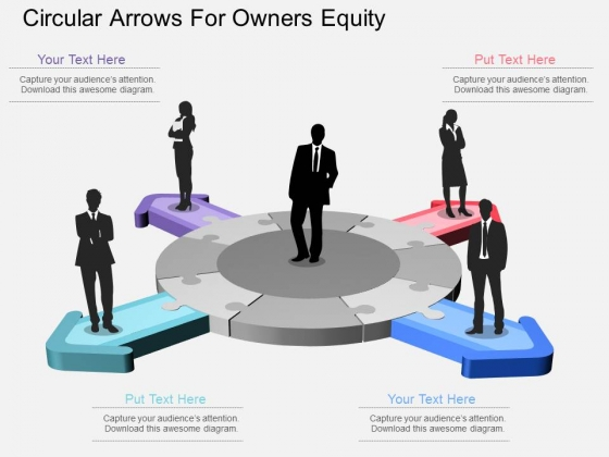 Circular Arrows For Owners Equity Powerpoint Template