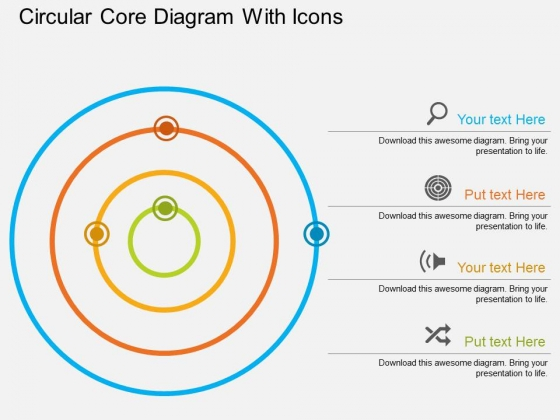 Circular Core Diagram With Icons Powerpoint Template