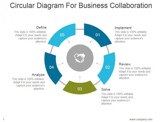 Circular Diagram For Business Collaboration Ppt Powerpoint