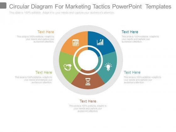 Circular Diagram For Marketing Tactics Powerpoint Templates