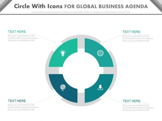 Circular Diagram For Process Strategy Powerpoint Template