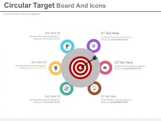 Circular Diagram For Target Planning Powerpoint Slides