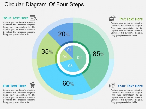 Circular Diagram Of Four Steps Powerpoint Template