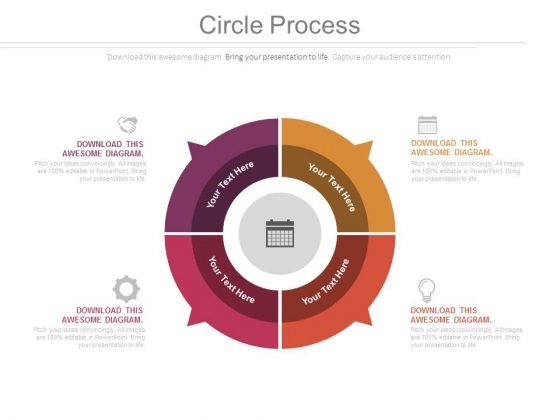 Circular Diagram Of Planning Process Powerpoint Slides