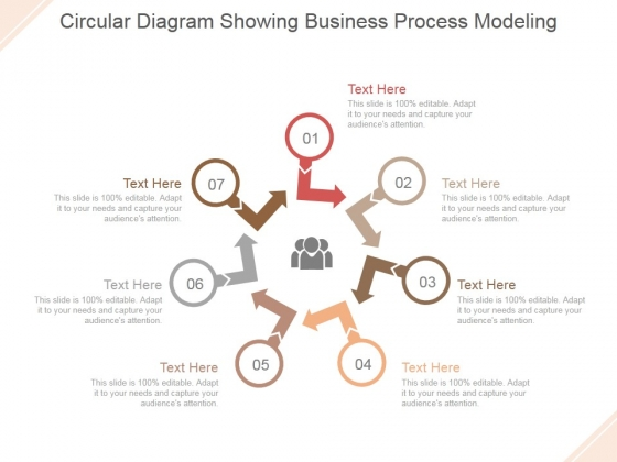 Circular Diagram Showing Business Process Modeling Ppt PowerPoint Presentation Templates