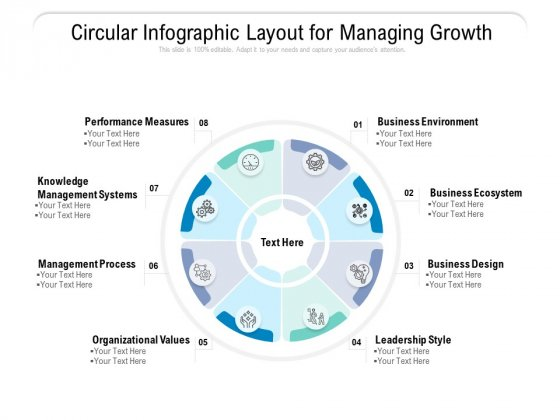 Circular Infographic Layout For Managing Growth Ppt PowerPoint Presentation Styles Example Introduction PDF