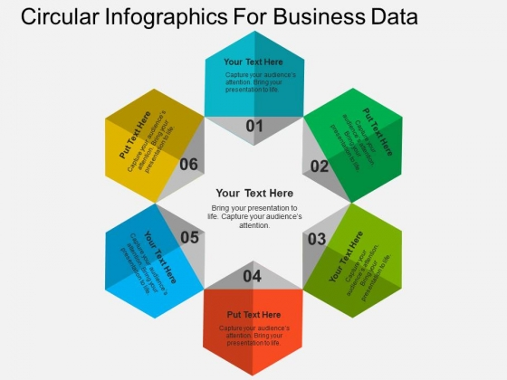 Circular Infographics For Business Data Powerpoint Templates