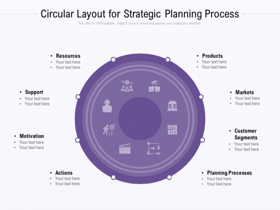 Circular Layout For Strategic Planning Process Ppt PowerPoint Presentation Icon Designs Download PDF