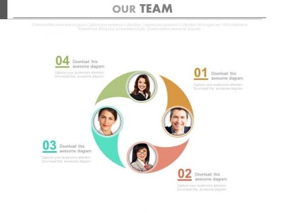 Circular Layout Of Team Members Powerpoint Slides