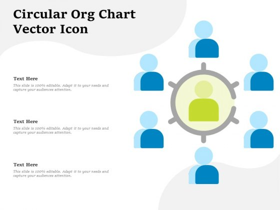 Circular Org Chart Vector Icon Ppt PowerPoint Presentation Summary Rules