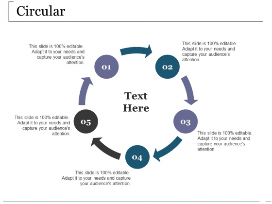 Circular Ppt PowerPoint Presentation Outline Visual Aids