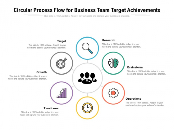 Circular Process Flow For Business Team Target Achievements Ppt PowerPoint Presentation Picture PDF