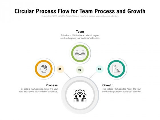 Circular Process Flow For Team Process And Growth Ppt PowerPoint Presentation Ideas Model PDF