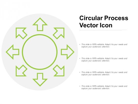 Circular Process Vector Icon Ppt PowerPoint Presentation Infographics Graphics Tutorials