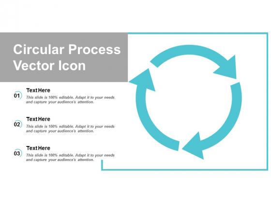 circular process vector icon ppt powerpoint presentation slides display