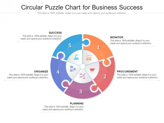 Circular Puzzle Chart For Business Success Ppt PowerPoint Presentation Ideas Gallery PDF