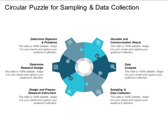 Circular Puzzle For Sampling And Data Collection Ppt PowerPoint Presentation Inspiration File Formats