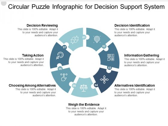 Circular Puzzle Infographic For Decision Support System Ppt PowerPoint Presentation Inspiration Ideas