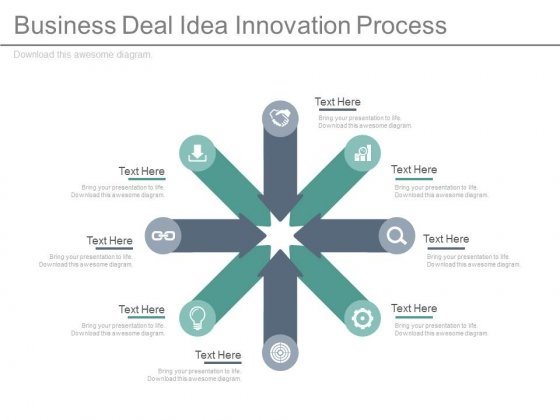 Circular Spokes Diagram For Innovation Process Powerpoint Template