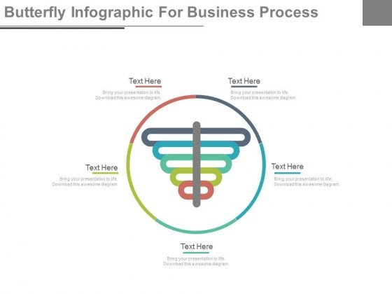 Circular Steps Butterfly Process Chart Powerpoint Template