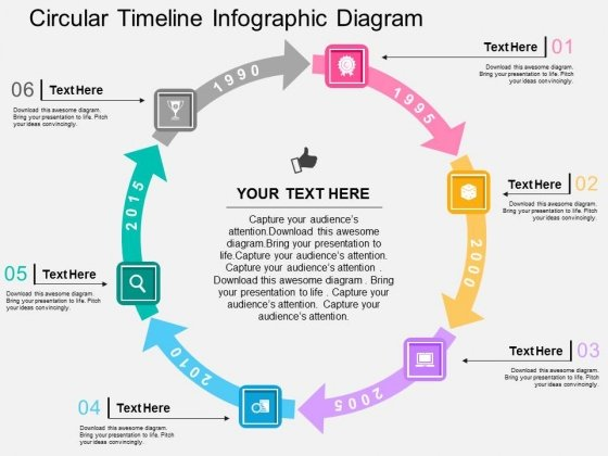 circular timeline infographic diagram powerpoint template
