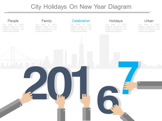 City Holidays On New Year Diagram