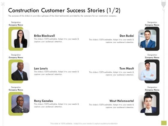 Civil Contractors Construction Customer Success Stories Construction Ppt File Graphics Example PDF