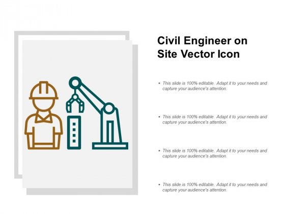 Civil Engineer On Site Vector Icon Ppt PowerPoint Presentation Portfolio Slides